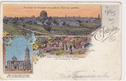 Gruss Aus Jerusalem - Litho      (A-22-100627) - Palestine
