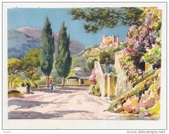 Crhomo  Par Illustrateur  Lessieux Route De La Corniche Roquebrune  16cmx13cm - Autres