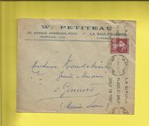 Enveloppe Ou Lettre Publicitaire Commerciale De LA BAULE-SUR-MER W. PETITEAU  Pour GONNORD Le  14 09 36 - Marcophilie (Lettres)