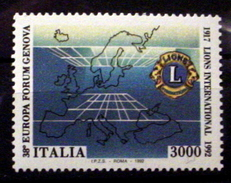 ITALY # 1914.  3000 L, Lion's International 75th .   MNH (**) - 1991-00: Mint/hinged