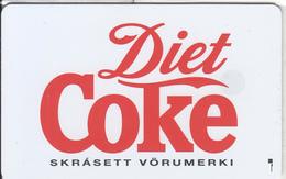ICELAND(chip) - Diet Coce(ICE-RA-07), Radiomidum Satellite Telecard 150 Skref, Chip SC7, Tirage 5000, Used - Iceland