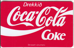 ICELAND(chip) - Drekkid Coca Cola(ICE-RA-02), Radiomidum Satellite Telecard 150 Skref, Chip SC4, Tirage 10000, Used
