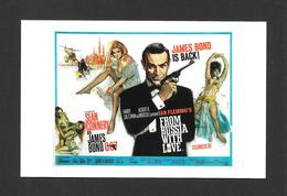 AFFICHES - POSTERS - CINÉMA - JAMES BOND AGENT 007 - UK POSTER FROM RUSSIA LOVE (1963) - Affiches Sur Carte