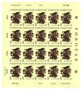 > ISLANDS FAROER, FOROYAR EUROPA 1981 SHEET - FOGLIETTO FOLKLORE