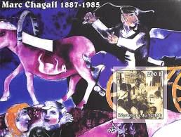 D- Tchad 2002 - ND/Imperf - Célébrité, Peintre - Marc Chagall.