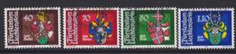 Liechtenstein Mi 743-746 Heraldry - Coat Of Arms - Büchel - Marxer - Frick - Oehri - 1980