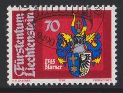 Liechtenstein Mi 744 Heraldry - Coat Of Arms - Marxer - 1980