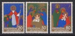 Liechtenstein Mi 788-790 Christmas St Nicolas - The Wise Men - The Holy Family - 1981 * *