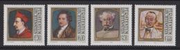 Liechtenstein Mi 784-787 Charles Borromeo - Johan Wolfgang Von Goethe - Alexander Dumas - Hermann Hesse - 1981
