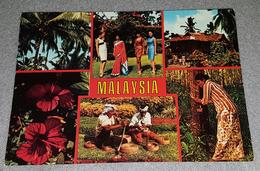 MALAYSIA, COLLAGE POSTCARD, MALAYSIAN SCENE - Malaysia