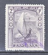 ZANZABAR  171  Fault   (o)    Wmk. 4 - Zanzibar (...-1963)