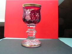 Rubin Glas , Böhmen Mit Goldrand  , Ca. 1920  Handarbeit - Glas & Kristall