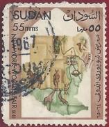 1964 - Map Of Sudan - Yt:SD 167 - Used - Sudan (1954-...)