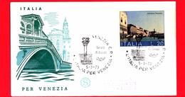 ITALIA - 1973 - FDC - Filagrano - Salviamo Venezia - Raccomandata - Viaggiata Da Venezia A Pescara - 6. 1946-.. Republic