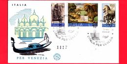 ITALIA - 1973 - FDC - Filagrano - Salviamo Venezia - Numerata - Viaggiata Da Venezia A Pescara - 6. 1946-.. Republic