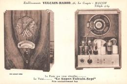 "SAONE ET LOIRE  71    MACON  ETABLISSEMENTS VULCAIN - RADIO  POSTE RADIO ""SUPERVULCAIN SEPT"" PUBLICITE - Macon"