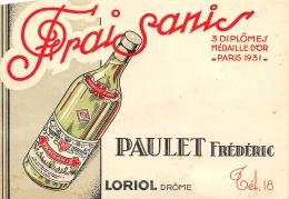 DROME  26  LORIOL  FRAISANIS  PAULET FREDERIC  PUBLICITE ALCOOL - Francia