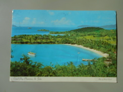 ANTILLES VIRGIN ISLANDS ST-JOHN BEAUTIFUL CANEEL BAY PLANTATION WITH ITS WHITE SAND AND CRYSTAL.... - Vierges (Iles), Amér.