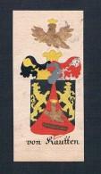 """""""von Kautten"""" - Von Kauten Kautten Böhmen Manuskript Wappen Adel Coat Of Arms Heraldry Heraldik - Stiche & Gravuren"""