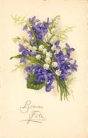 ILLUSTRATEUR  FLEURS  VIOLETTES  MUGUET  FANTAISIE  BONNE FETE - 1900-1949