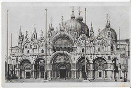 VENETO - VENEZIA - CHIESA SAN MARCOL - FOTO ANNI '30 - VIAGGIATA 1936 FRANCOBOLLO ASPORTATO - Venezia