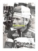 GRAND PHOTO DE PRESSE CYCLISME 24 Cm X 18 Cm PERSFOTO WIELRENNEN FOTO SPORT ADRIAAN VAN DER POEL - Ciclismo