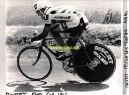 GRAND PHOTO DE PRESSE CYCLISME 24 Cm X 18 Cm PERSFOTO WIELRENNEN FOTO SPORT MOTTET - Ciclismo