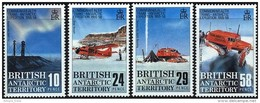 BRITISH ANTARCTIC TERR. (BAT): Mi #148-151 Yv #168-171 Trans-Antarctic Expedition, Aviation (1988) MNH *** / Neufs - Other Means Of Transport