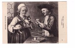 Chat La Tentation Oiseau Musée De Dijon Tableau De Gresly - Katten