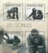 Burundi MNH Gorillas Sheetlet And SS - Gorillas