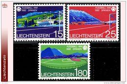 Liechtenstein 0740/42** Mondial Espana 82  MNH - Faciale: 2.20 FS
