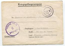 Guerre 39 45 Lettre De Prisonnier écrite à DUREN Le 17/11/1940 Pour LIMOGES - Storia Postale
