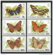 1977 Isole Cayman Farfalle Butterflies Schmetterlinge Papillons Set MNH** B575 - Iles Caïmans