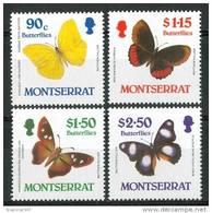 1984 Montserrat Farfalle Butterflies Schmetterlinge Papillons Set MNH** Te151 - Montserrat