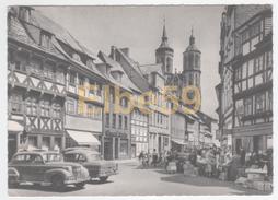 Göttingen (Niedersachsen), Johannisstrasse Und Türme Des Johanniskirche, Wagen, Markt, Gelaufen 1965 - Goettingen