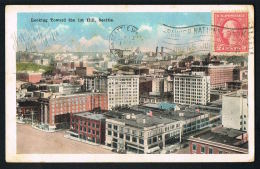 SEATTLE-  WASHINGTON -U.S.A- Looking Toward The 1st Hill - Voyagée 1919 -scans Recto Verso - - Paypal Free - Seattle