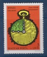M 457) Ungarn 1980 Mi# 3426 **: Jugend Briefmarkenausstellung, Ziffernblatt Uhr - Uhrmacherei