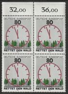"""M 458) BRD 1985 Mi# 1253 O: Rettet Den Wald, Ziffernblatt Uhr """"3 Vor 12"""" - Uhrmacherei"""