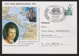 M 462) BRD 1992 GS SSt Berlin: Von Humboldt, Aztekischer Kalenderstein Calendar - Uhrmacherei