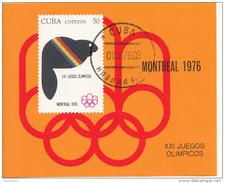 2067 Cuba 1976 Montreal XXI Jeux Olympiques Stemma (Castoro)  Sheet Imperforato Nuovo  Olimpiadi - Estate 1976: Montreal