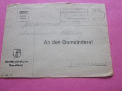 LIESTAL-1948 Baselland-Amtlich Pauschal-franklert-Suisse Marcophilie  Schunenbuch -Lettre Affranchissement Abonné - Poststempel