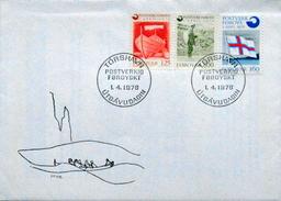 Faroe Islands   1976 Inaugaration Of Post Office Set    MiNr.21-23   FDC   ( Lot 6253  )
