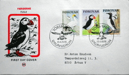 Faroe Islands  1978   BIRDES   MiNr.36-38  FDC   ( Lot  6068)