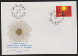 M 475) Schweiz 1967 Mi# 859 FDC: Für Das ALTER, Sanduhr Uhr Zeitmessung Sonne - Uhrmacherei
