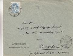 Suisse - Lettre De 1908 - Oblit Birmensdorf Zürich - Exp Vers Dermbach  En Allemagne - Storia Postale