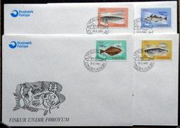 Faroe Islands  1983 Fische / Fish    MiNr.86-89  FDC   ( Lot    6256  )