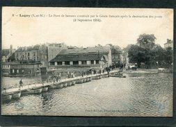 CPA - GUERRE 1914 - LAGNY - Le Pont De Bateaux Construit Par Le Génie Après La Destruction Des Ponts (Sept. 1914), Animé - Guerre 1914-18