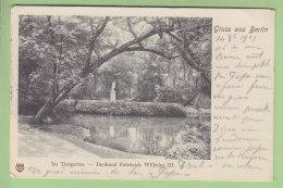 BERLIN : Gruss Aus Berlin, Im Tiergarten . Denkmal Friedrich Wilhelm III. Dos Simple. 2 Scans. - Allemagne