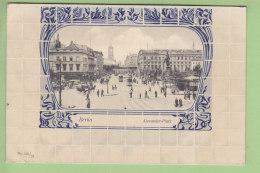 BERLIN : Alexander Platz, Style Art Nouveau. 2 Scans. - Allemagne