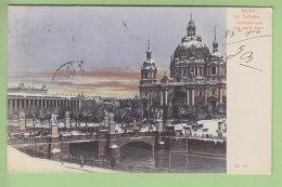 BERLIN Im Schnee : Schlossbrücke Und Neuer Dom. Dos Simple 2 Scans. - Allemagne